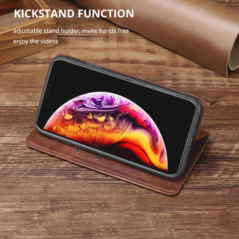 J4 Inti Kulit Flip Case untuk Samsung J2 J3 J5 J7 2016 2017 J4 J6 J8 2018 J2 Prime Pro magnet Dompet Case Telepon Penutup Belakang