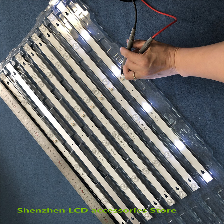 4Pieces/lot 560mm 6v*6led New LED Strip For L32F3301B L32P1A 4C-LB3206-HR03J HR01J 32D2900 32HR330M06A8 V1 32HR330M06A5 V5