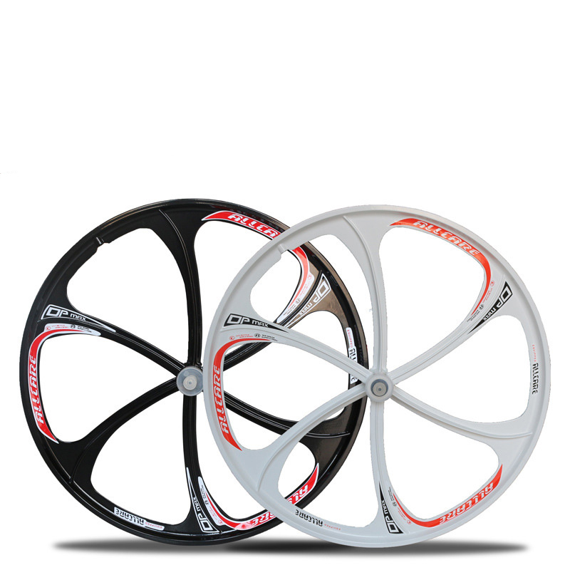 26 inch mountain bike bearing MTB <font><b>6</b></font> <font><b>Spoke</b></font> disc brake magnesium alloy <font><b>wheel</b></font> set bicycle <font><b>wheel</b></font> bike rims parts image