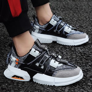 Image 4 - 2019 גברים של נעלי ספורט עם בד תפרים אופנתי חיצוני גברים של מאמני מוגבר פנימי נעלי גבר עם אוויר רשת בתוספת גודל