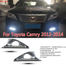 цена на Car Styling LED DRL for Toyota Camry 2012-2014 Daytime Running Lights Day Lamp with Turn Signal Dimmed Function Relay