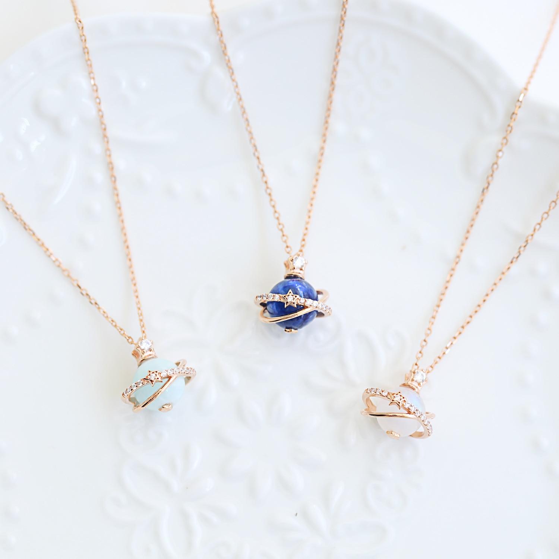 925 argent Sterling 12 Constellations pierre naturelle pendentif chanceux perles planète bijoux collier livraison gratuite