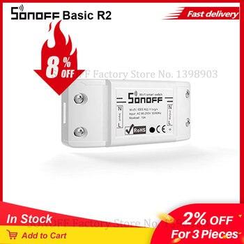 Itead SONOFF Basic R2 Wifi Switch Module Universal Wifi Breaker Timer DIY Wifi Smart Light Switch For Smart Home Work with Alexa 1