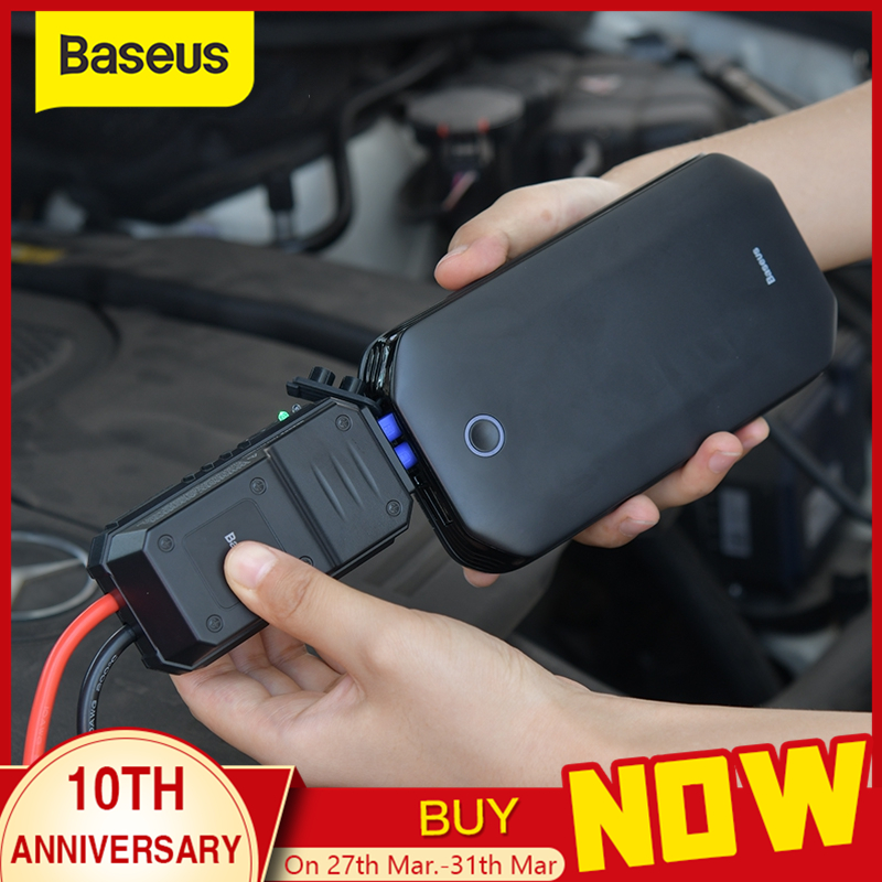 Baseus Car Jump Starter Battery Power Bank Portable 12V 800A Vehicle Emergency Battery Booster for 4.0L Car Power Starter title=