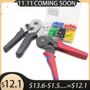 Image 1 - Free Shipping HSC8 6 6 0.25 6mm 23 10AWG Adjustable Hexagon Tube Bootlace Terminal Crimping Pliers Crimp Hand Tools Ferramentas