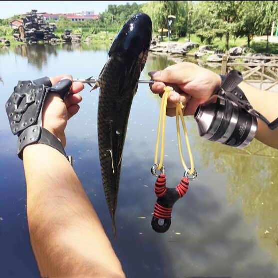 Fronde tir pêche fronde arc et flèche tir puissant pêche composé arc attraper poisson haute vitesse chasse 2020