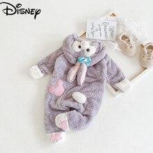 Disney Star Delu Baby Children's Winter Thickening One-piece Children's Baby Climbing Clothes in Autumn and Winter