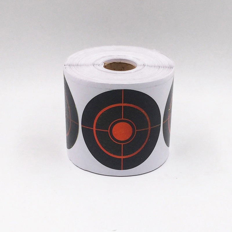 250Pcs/Roll Diameter 7.5 Cm Splatter Target Shoot Practice Stickers Set New