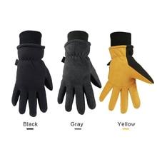 Winter ski gloves for outdoor activities sports warm Deerskin windproof below skiing