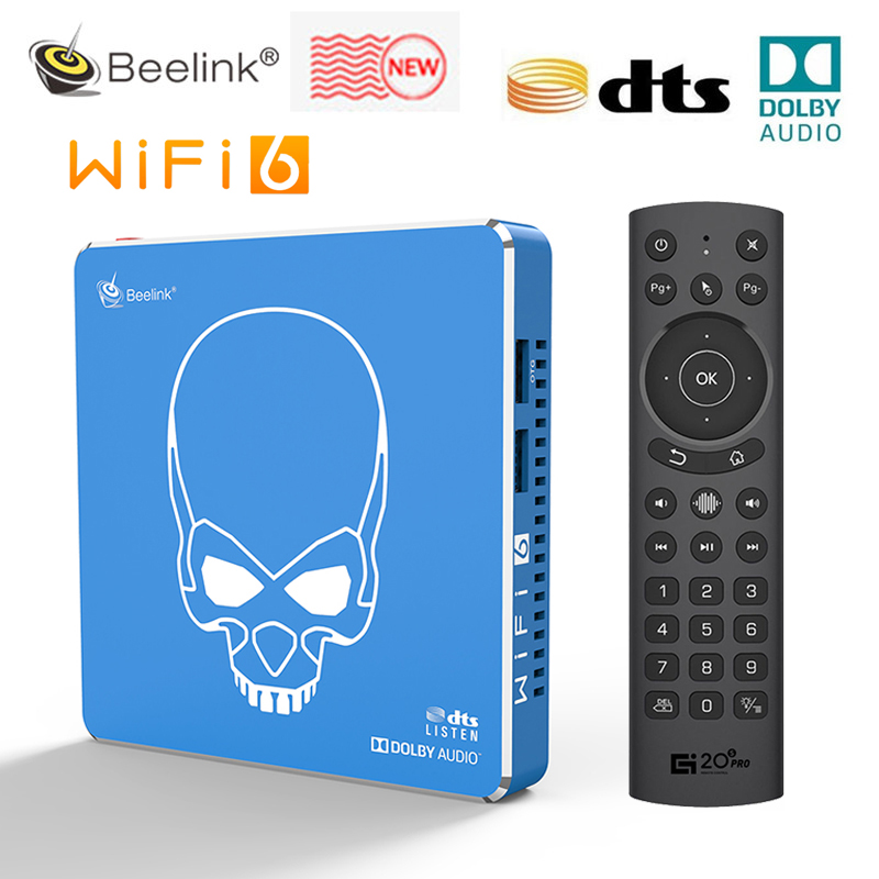 Beelink GT King Pro WI FI 6 Amlogic S922X H Android 9,0 Smart Tv Box DDR4 4 Гб 64 Гб 1000M LAN Dolby аудио DTS 4 к HD медиа плеер ТВ-приставки и медиаплееры      АлиЭкспресс