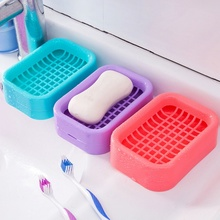 Plastic Hollow Soap Dish With Drain Dish Portable Household Bathroom Products Multi-color Bathroom Gadgets cleanning tool