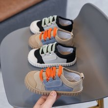 Children's canvas shoes spring and autumn new boys and girls board shoes, children's biscuit baby soft-soled shoes