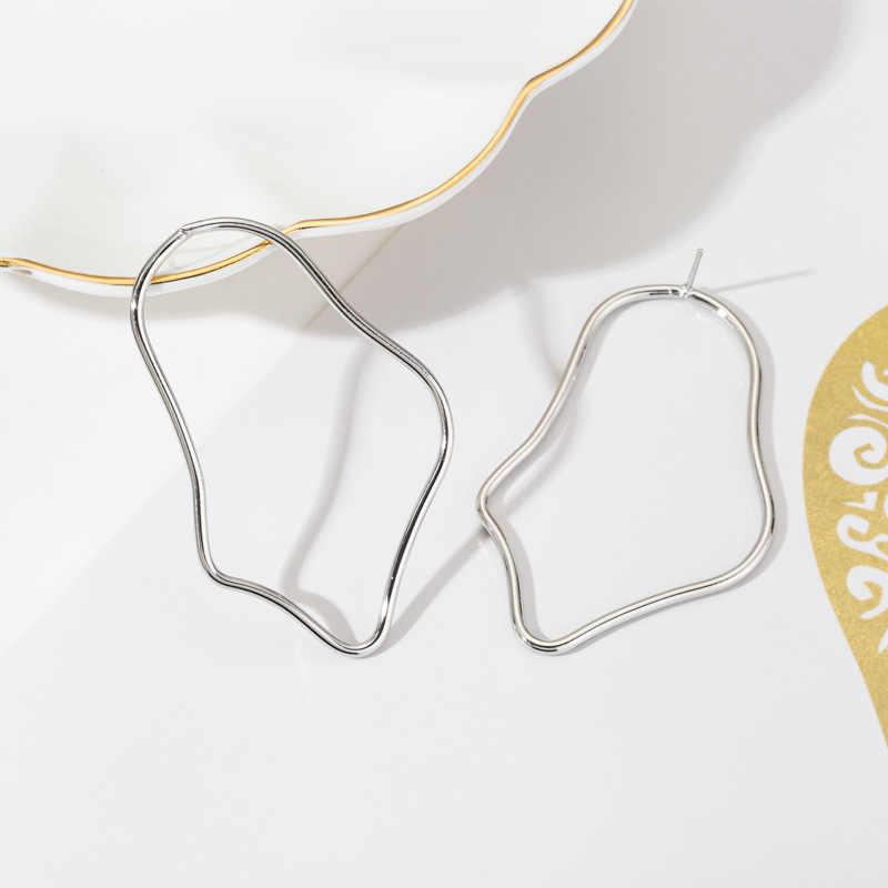 חדש פשוט גדול גיאומטרי סדיר עגילי עבור נשים סגסוגת זהב הצהרת Drop עגילי Gilrs Eardrop חתונה Jwellery Brincos