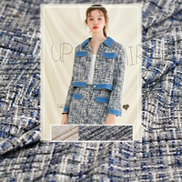 Pearlsilk France Tweed Mix Colour Fabrics Autumn Jacket Dress Suits Garment Materials The Sewing Cloth Meter Freeshipping