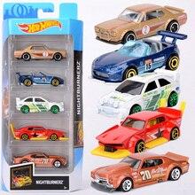 Original Hot Wheels Car 5psc Anime Car Toys Diecast 1:64 Hotwheels Car for Boys Toys for Boys Kids Toys Birthday Gift