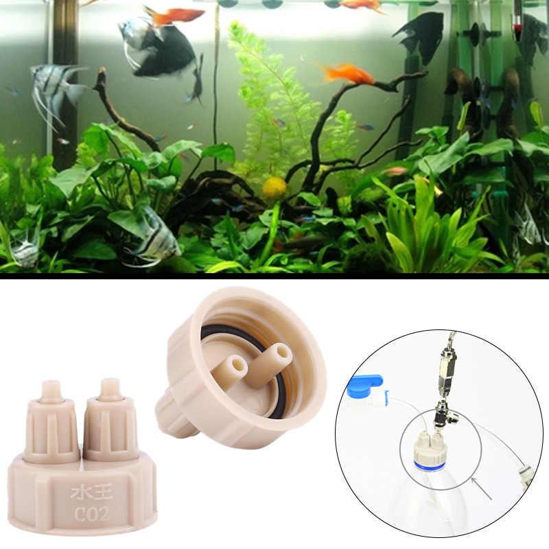 الحوض زجاجة كاب مولد نظام CO2 معطر الهواء أحواض السمك المنزل Guage