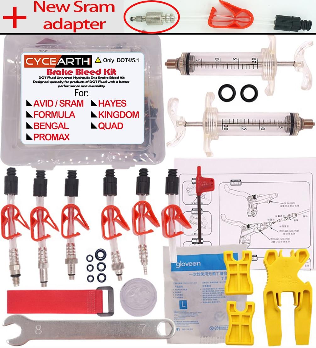 Bicycle Disc Brake Bleed Kit Tool For AVID Sram DODE CODE JUICY ELIXIR Edge Guide HOPE BNGAL HAYES J3 J5 J7 Formula DOT Oil