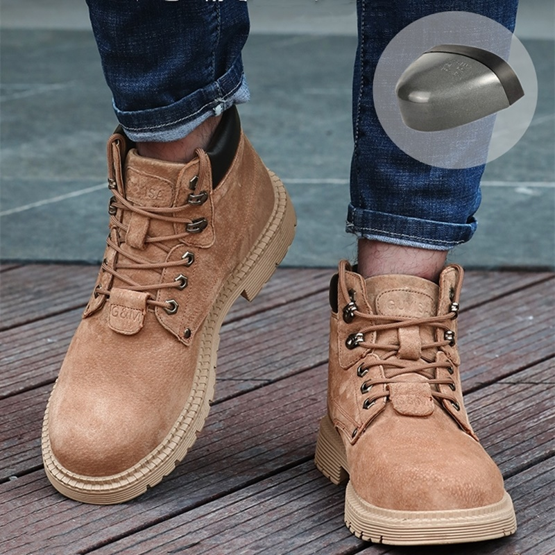 36~46 Men Work Boots Wilderness Survival Anti-smashing Anti-slip Steel Toe Work Safety Boots #ACC9160