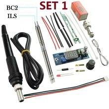 Aquecimento t12 estação de solda digital eletrônico ferro de solda controlador diy kits uso para hakko t12 lidar com dicas interruptor vibração