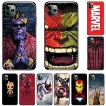 Marvel Avengers captain ironman thanos TPU black Phone Case Cover Hull For iphone 5 5S SE 5C 6 6S 7 8 plus X XS XR 11 PRO MAX pemberton max captain black