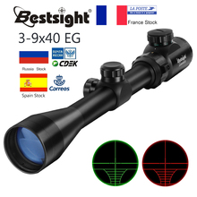 3 9x40 Optic Scope Red Green Rangefinder Illuminated Optical Sniper Rifle Scope Hunting Scopes Riflescope