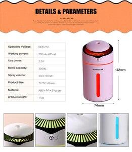 Image 5 - Hava Nemlendirici uçucu yağ Difüzörü aromaterapi nemlendirici Araba USB AROMA YAYICI Mini USB hava nemlendirici Gece Lambası Ile