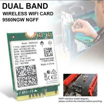 Bluetooth 5,0 Intel Dual Band AC 9560 9560NGW NGFF 1,73 Gbps BT5.0 CNVI M.2 беспроводная Wi-Fi карта