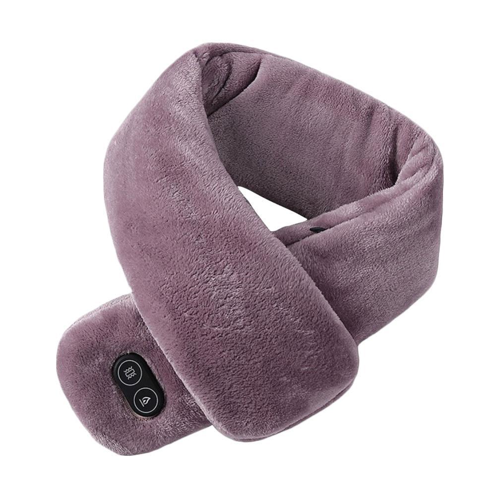 USB с подогревом мужчины и женщины зима шарф шаль внешняя торговля умный обогрев однотонный цвет вибрация массаж шарф