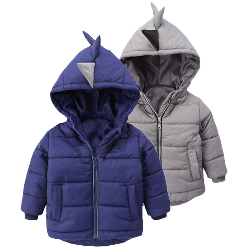 Jacket Coats Outerwear Children Clothes Autumn Baby-Boys Kids Winter for Dinosaur Warm