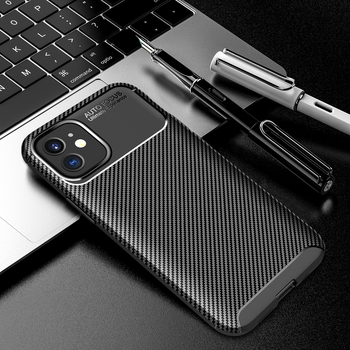 For iPhone 11 12 Xs Xr Carbon Fiber Case Soft Silicone Shockproof Back Cover For iPhone 11 Pro 8 8 Plus Max SE 2020 Phone Cases image
