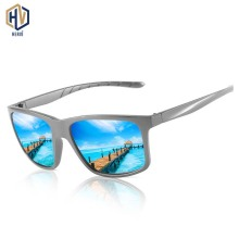 New Fashion Men Square Sunglasses PC Big Frame Ice Blue Phot