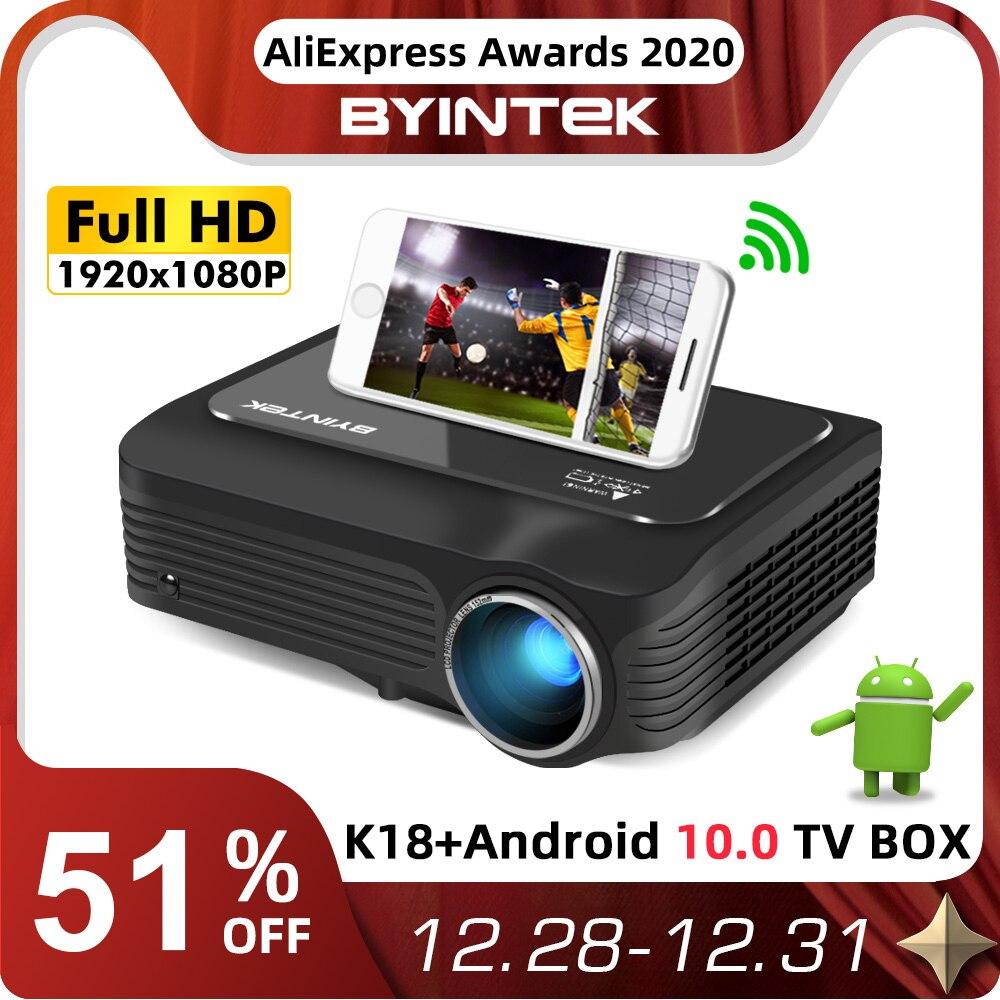 BYINTEK K18 Mais Barato 1920x1080 Full HD 1080P Mini Projetor Portátil Game LCD LED 3D (Opcional Android 10 TV BOX  para Smartphone)-0