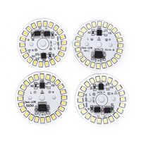 Lámpara de parche de bulbo LED, 220V, módulo Circular de placa SMD, placa de fuente de luz para bombilla de 28/30/35/40/44/48mm