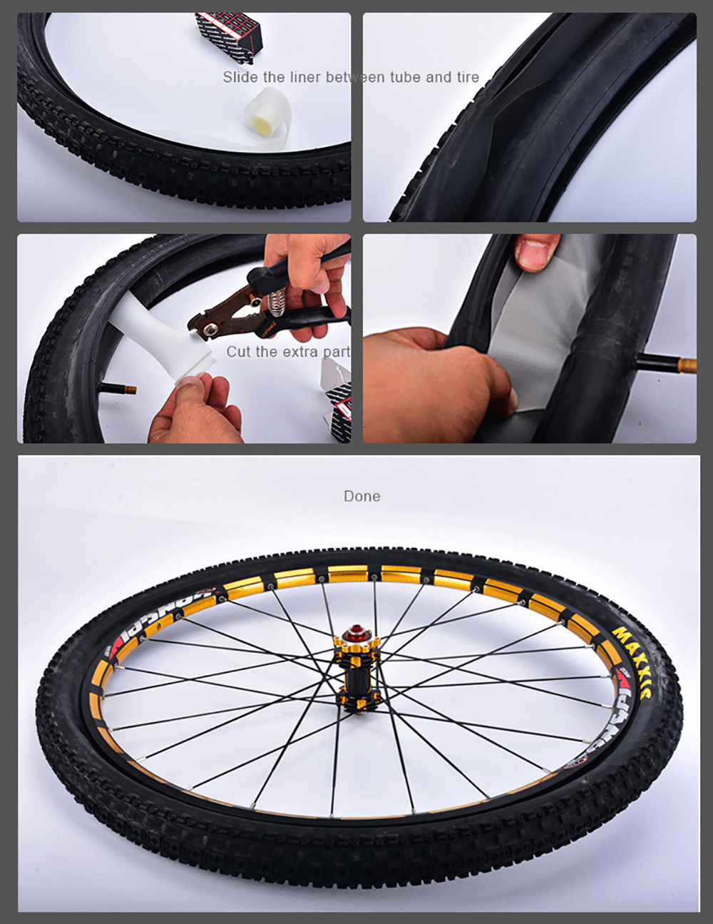 2pcs Bicycle Tire Liner Bike Puncture Proof Belt Protection Pad Cycling Anti-Puncture Tyre Protector Tape MTB Road Bike Repair