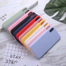 Candy Color Matte Soft Phone Case For iPhone 5 5s se 6 6S 7 8 Plus X XS MAX XR Solid TPU Silicone Protective Cases Back Cover protective abs matte back cover case for iphone 5 yellow