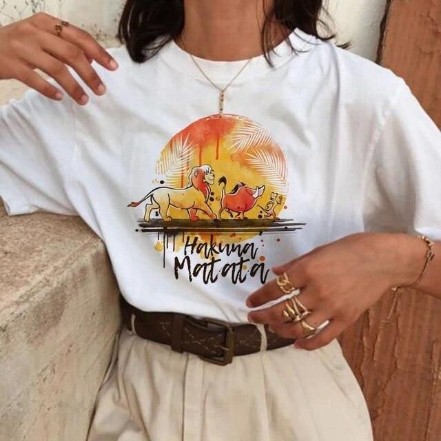 Tee Women's Shirts Summer 2020 Hakuna Funny Women T Shirt Ulzzang Femme Harajuku Graphic Tshirt Oversized T-shirt Female Tops