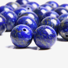 High quality grade A natural blue lapis lazuli stone beads smooth lapis lazuli spacer loose beads for jewelry making bracelet
