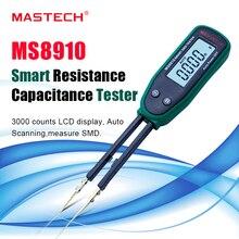 Hohe qualität Pinzette Smart SMD RC Widerstand Kapazität Diode Meter Tester LCD Multimeter MS8910, 3000 zählt Auto Klingelte/Scan