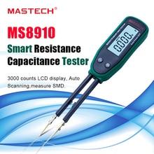Pinzas de alta calidad resistencia inteligente SMD RC medidor de diodo de capacitancia probador multímetro LCD MS8910,3000 recuentos Auto Rang/ Scan