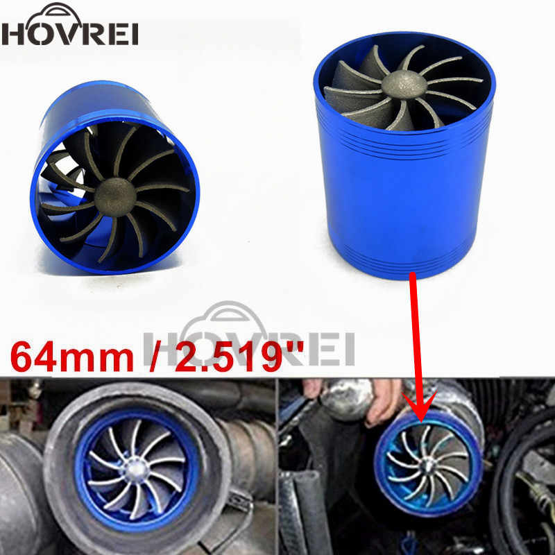 Universal Car Gas Saver Supercharger Turbine Turbo Charger Air Intake Fan KL