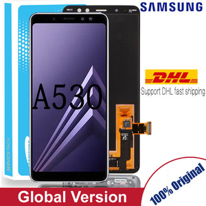 Original 5.6'' AMOLED Display LCD for samsung Galaxy A8 2018 A530 LCD Touch Digitizer Assembly Brightness adjusted(China)