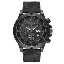 Cool Blue Glass Mirror Watch Men Waterproof Quartz Wristwatch Calendar Display Fiber Strap Small Dial Men Watch Reloj Hombre все цены