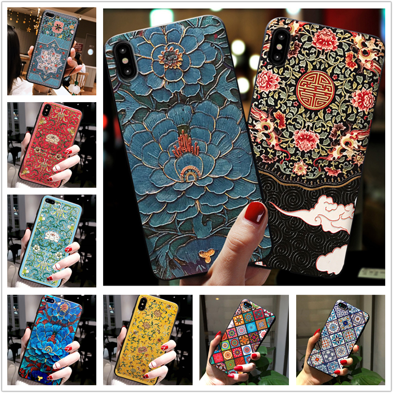 For <font><b>OPPO</b></font> <font><b>Realme</b></font> 5 Case Chinese Style Fashion Silicone <font><b>Phone</b></font> Back Cover For <font><b>OPPO</b></font> Realme5 Pro <font><b>Realme</b></font> <font><b>3</b></font> 3Pro Fundas RealmeX2 X2 XT image