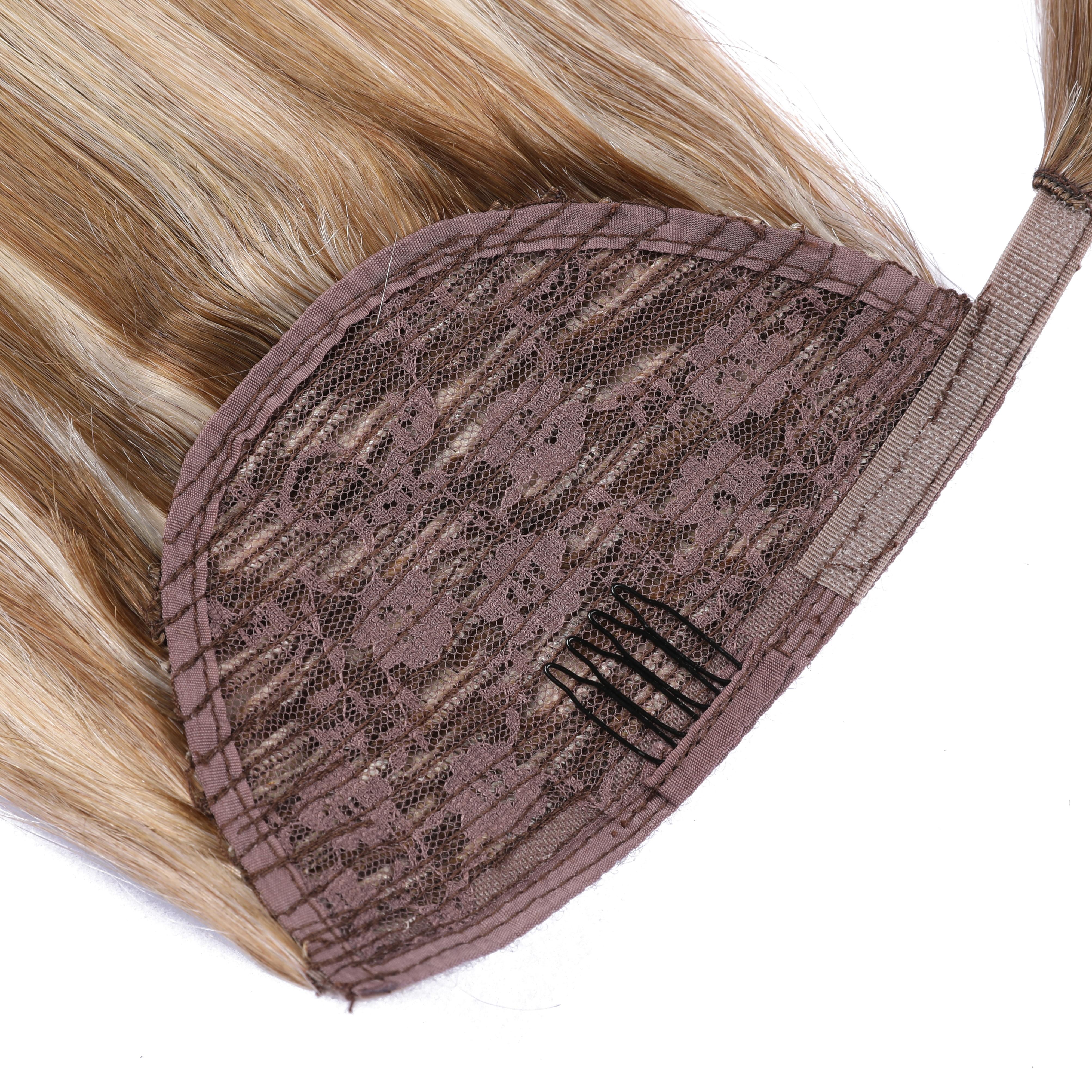 Fashion Women Hair Wigs Wrap on Clip Ins Extensions Drawstring Ponytail Human Hair