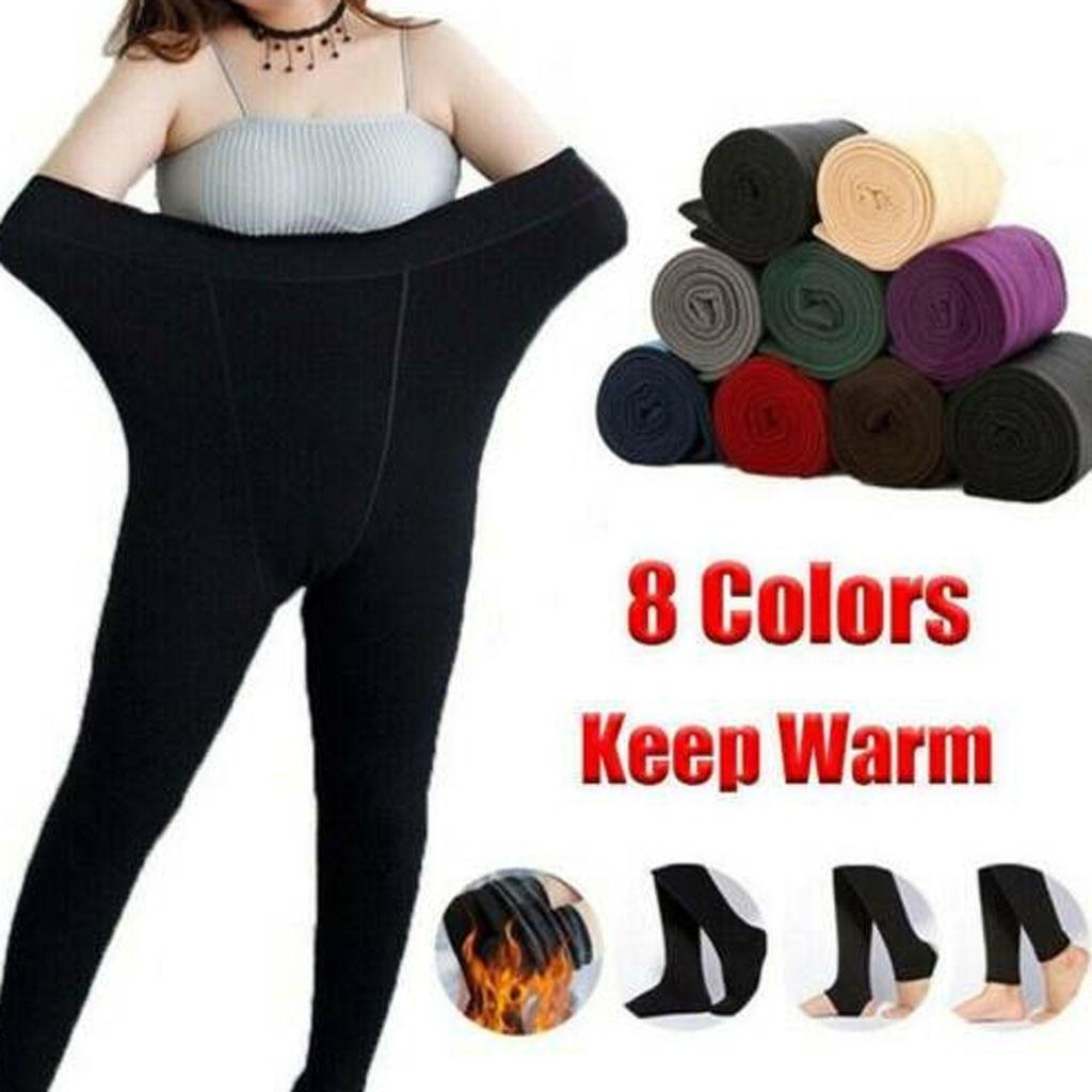 Vetement femme 2019 женские зимние черные толстые теплые мягкие флисовые термоэластичные Леггинсы Брюки Одежда для женщин зима