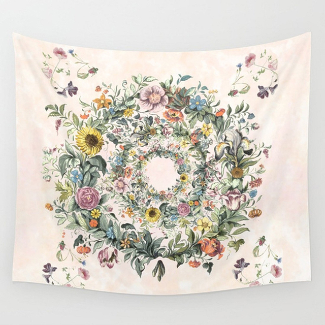 Floral Patterned Wall Tapestry 4