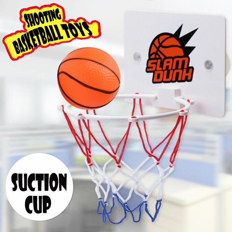3pcs/set Mini Basketball Hoop Toys Suck Wall-mountedhanging Basketball Netball Hoop Basketball Outdoor Shooting Frame