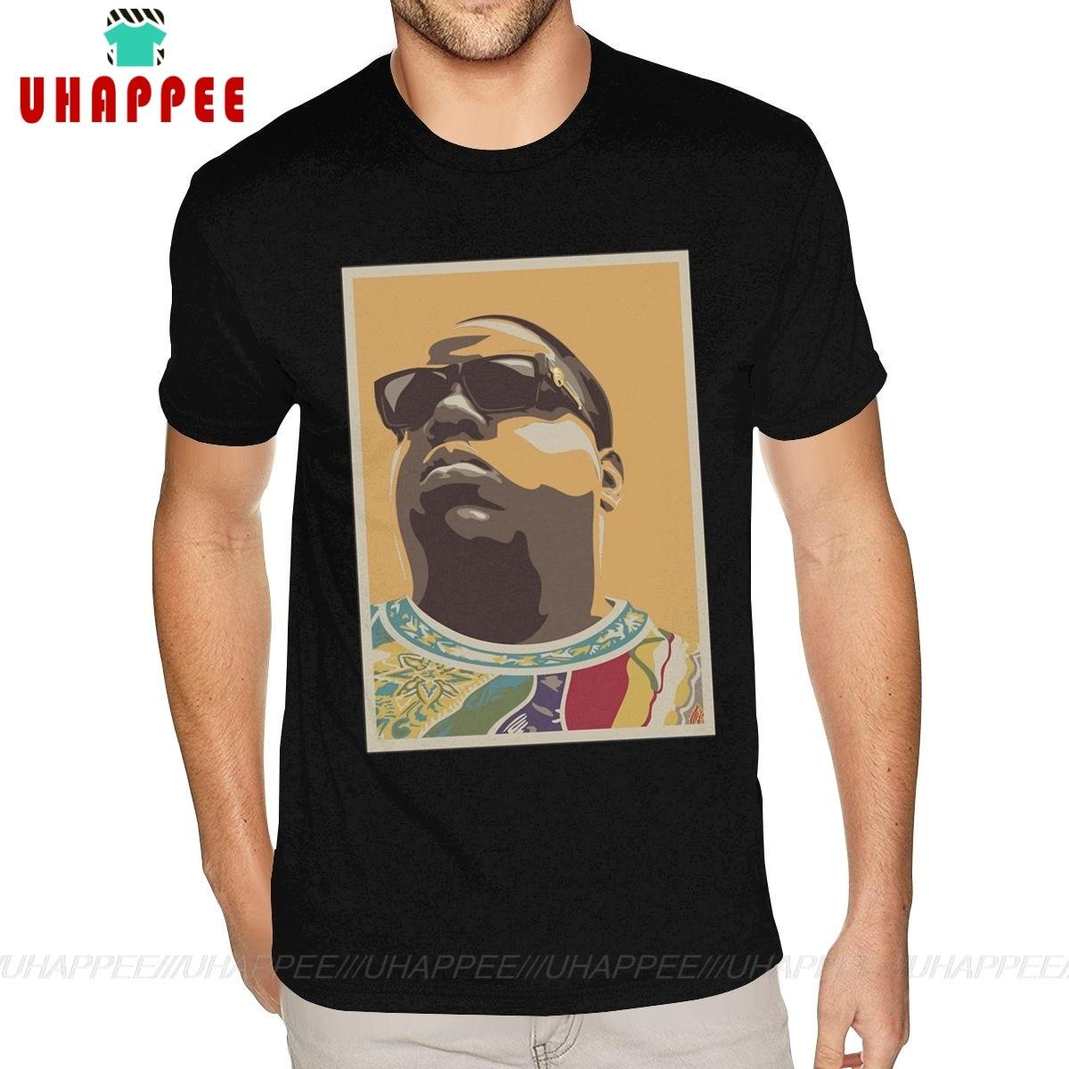 Oansatz Biggie Smalls Notorious BIG Baumwolle T-shirt Baumwolle herren Kleine Größe Schwarz Shirts