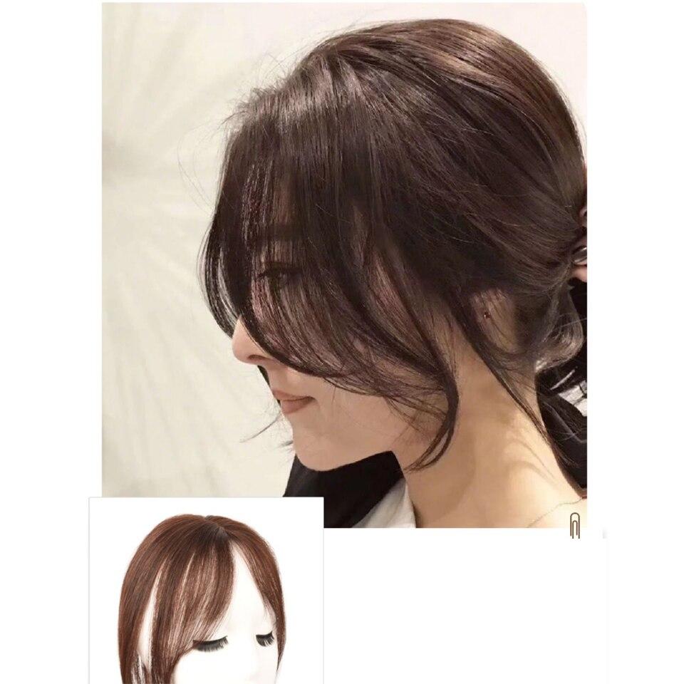 cabelo humano brasileiro clipe em franja remy