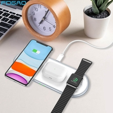 QI 10W Fast Charge 3 In 1 Wireless Charger For iPhone 11 pro XS Max XR X 8 Dock for Apple Watch 5 4 3 2 Airpods Pro Charging Pad